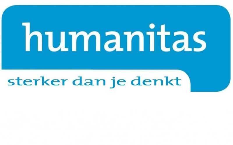 logo Humanitas met daarin de zin; sterker dan je denkt